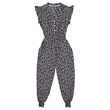 Buy Jigsaw Girls' Feather Print Jumpsuit, Black/Pink Online at johnlewis.com