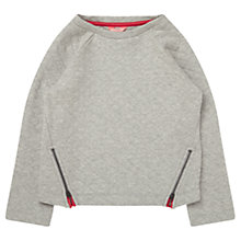 Buy Jigsaw Girls' Quilted Zip Jumper, Grey Online at johnlewis.com