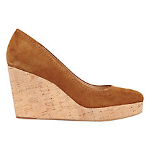 Buy Mint Velvet Wedge Heeled Court Shoes, Tan Suede Online at johnlewis.com