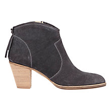 Buy Mint Velvet Liza Tassel Ankle Boots, Granite Suede Online at johnlewis.com