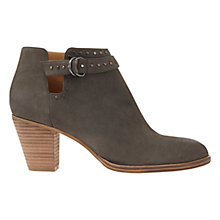 Buy Mint Velvet Zita Block Heeled Ankle Boots, Granite Nubuck Online at johnlewis.com