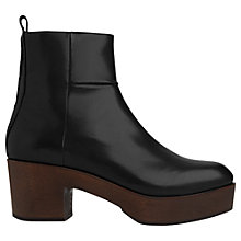Buy Whistles Helle Block Heeled Clog Ankle Boots Online at johnlewis.com