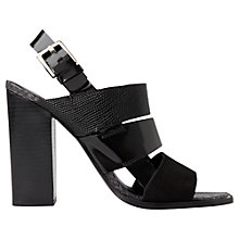 Buy Whistles Voe High Block Heel Sandals, Black Online at johnlewis.com