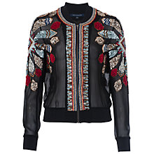 Buy French Connection Medina Jewel Long Sleeve Jacket, Black Multi Online at johnlewis.com