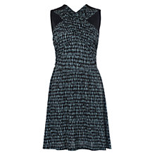 Buy French Connection Cannon Sands Jersey Dress, Black/Tribal Green Online at johnlewis.com