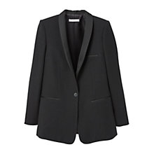 Buy Mango Satin Lapels Blazer, Black Online at johnlewis.com