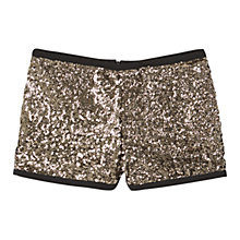 Buy Mango Sequin Shorts, Gold Online at johnlewis.com
