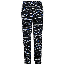 Buy French Connection Tapir Wave Crepe Trousers, Black/Multi Online at johnlewis.com
