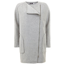 Buy Mint Velvet Jersey Cocoon Coat, Grey Online at johnlewis.com