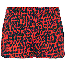 Buy French Connection Canyon Sands Cotton Shorts, Red Online at johnlewis.com