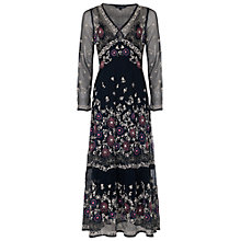 Buy French Connection Mara Bloom Embroidered Maxi Dress, Nocturnal/Multi Online at johnlewis.com