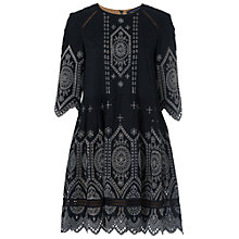 Buy French Connection Josephine Dress, Black/Tribal Green Online at johnlewis.com