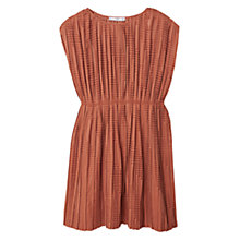 Buy Mango Pleated Dress, Medium Brown Online at johnlewis.com
