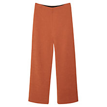 Buy Mango Cropped Palazzo Trousers, Medium Brown Online at johnlewis.com