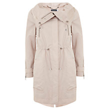 Buy Mint Velvet Nude Parka Coat, Pale Pink Online at johnlewis.com