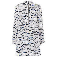 Buy French Connection Tapir Wave Shirt Dress, Summer White/Multi Online at johnlewis.com