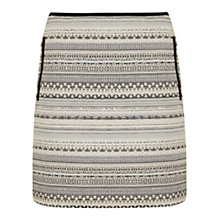 Buy Mint Velvet Jacquard Mini Skirt, Multi Online at johnlewis.com