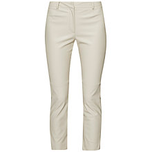 Buy French Connection Atlantic PU Cropped Trousers, African Stone Online at johnlewis.com