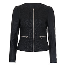 Buy French Connection Medina Stitch PU Zip Thru Jacket, Black Online at johnlewis.com