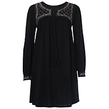 Buy French Connection Goldie Stone Smock Top, Black Online at johnlewis.com