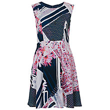 Buy French Connection Samba Dress, Utility Blue Online at johnlewis.com