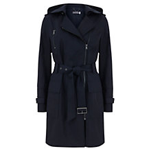 Buy Mint Velvet Hooded Trench Coat, Navy Online at johnlewis.com