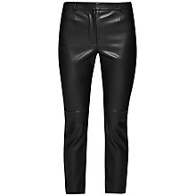 Buy French Connection Atlantic PU Cropped Trousers, Black Online at johnlewis.com