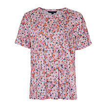 Buy French Connection Bacongo Daisy Jersey Top, Pink Online at johnlewis.com