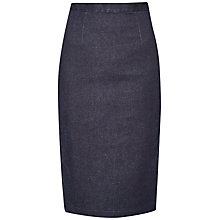 Buy French Connection Svelte Stretch Denim Pencil Skirt, Mid Dark Online at johnlewis.com