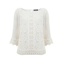 Buy Mint Velvet Victoriana Top, Cream Online at johnlewis.com