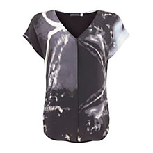 Buy Mint Velvet Abbie Print V-Neck Tee, Multi Online at johnlewis.com