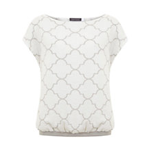 Buy Mint Velvet Faye Print Blouson Top, Multi Online at johnlewis.com