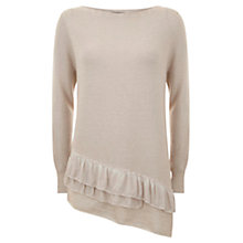 Buy Mint Velvet Ruffle Hem Knit Jumper, Pale Pink Online at johnlewis.com