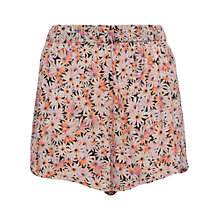 Buy French Connection Bacongo Daisy Printed Shorts, Fizi Pink Multi Online at johnlewis.com