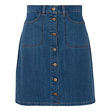 Buy French Connection Vintage Mia Denim Mini Skirt, Worn Vintage Online at johnlewis.com