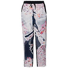 Buy French Connection Samba Avenue Drape Trousers, Utility Blue Online at johnlewis.com