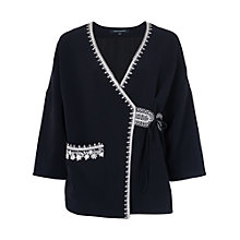 Buy French Connection Jasmine Stitch Embroidered Kimono, Utility Blue Online at johnlewis.com
