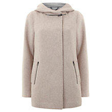 Buy Mint Velvet Zip Collar Coat, Blush Online at johnlewis.com