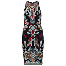 Buy French Connection Medina Jewel Embellished Dress, Black/Multi Online at johnlewis.com