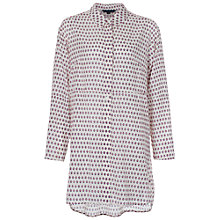 Buy French Connection Bacongo Dot Oversized Shirt, Daisy White Online at johnlewis.com