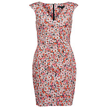 Buy French Connection Bacongo Daisy Dress, Fizi Pink/Multi Online at johnlewis.com