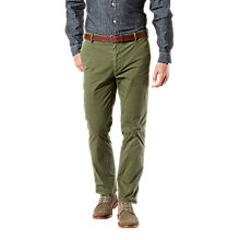 Buy Dockers Marina Slim Tapered Twill Trousers, Deep Moss Online at johnlewis.com