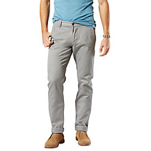 Buy Dockers Alpha Khaki Slim Stretch Twill Trousers, Foil Online at johnlewis.com