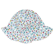 Buy John Lewis Baby Ditsy Print Hat, Blue/Multi Online at johnlewis.com