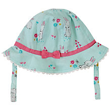 Buy John Lewis Baby Rabbit Print Sun Hat, Teal/Multi Online at johnlewis.com