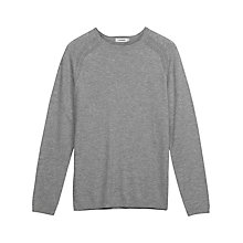 Buy J. Lindeberg Texas Raglan Rib Knit Jumper, Grey Melange Online at johnlewis.com