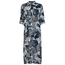 Buy French Connection Lala Palm Drape Shirt Dress, Black/Multi Online at johnlewis.com