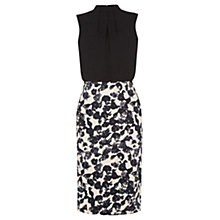 Buy Oasis Shadow Print Dress, Black/White Online at johnlewis.com