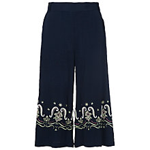 Buy French Connection Casa Tile Flared Trousers, Utility Blue Online at johnlewis.com