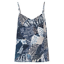 Buy French Connection Lala Palm Drape Top, Summer Multi White Online at johnlewis.com